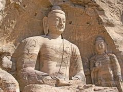 Datong, grottes de Yungang , Bouddha by <b>denise pelissier</b> ( a Panoramio image )