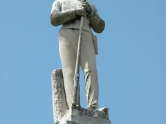 Close-up of Confederate Soldier on the Confederate Monument, Tow by <b>Seven Stars</b> ( a Panoramio image )