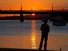 Fishing with the sunset... by <b>FGirolamo</b> ( a Panoramio image )