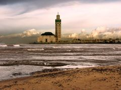 Mosque of HassanII by <b>ssSUH</b> ( a Panoramio image )