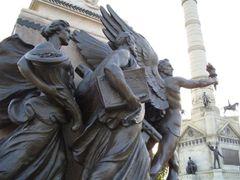 Knowledge,Legislature,Financial Prosperity; life-size bronzes, A by <b>marnox1</b> ( a Panoramio image )