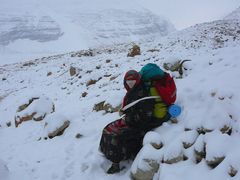 Snow storm during the kailash kora by <b>sissm</b> ( a Panoramio image )