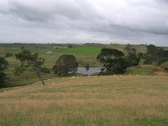 Hobbiton filming location, general overview from the top of the  by <b>michaelhoen</b> ( a Panoramio image )