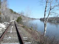 Aroostook River from the RR Tracks by <b>elgiad007</b> ( a Panoramio image )