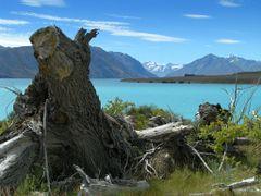 Eastern side of Tekapo Lake - taken from Lilybank Road by <b>Tomas K?h?ut</b> ( a Panoramio image )
