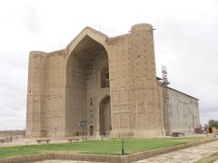 Khoja Ahmed Yasavi Mausoleum. c1390 by <b>milusiddique</b> ( a Panoramio image )