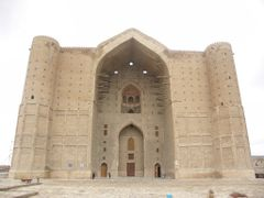 Khoja Ahmed Yasavi Mausoleum. Built in 1390. Samarkandi tile unf by <b>milusiddique</b> ( a Panoramio image )