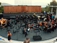 "Rehearsing...in ""Frinichos"" open air theatre by <b>Marina Sp.</b> ( a Panoramio image )"
