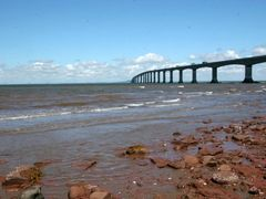 Confederation Bridge linking New Brunswick with Prince Edward Is by <b>http://timtraveler.com</b> ( a Panoramio image )
