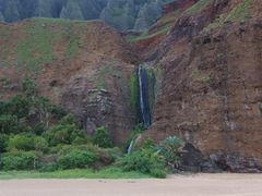 Kalalau Beach, Falls, and Valley by <b>livingworld</b> ( a Panoramio image )