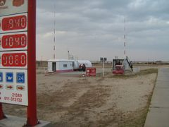 petrol station Railway retail by <b>olaf1062</b> ( a Panoramio image )