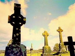 Rock of Cashel -Celtic Cemetery by <b>Daniela Brocca</b> ( a Panoramio image )