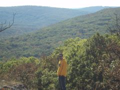 A hippie enjoying the great view at Taum Sauk by <b>trailhappyhippies</b> ( a Panoramio image )