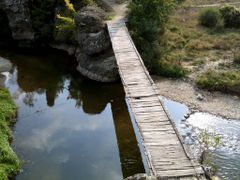 Висећи мост на реци Пчињи 1 by <b>Саша Јовановић</b> ( a Panoramio image )