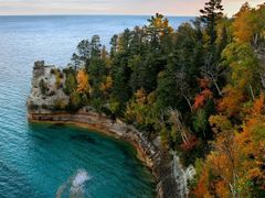 Miners Castle, Pictured Rocks National Lakeshore, Michigan by <b>Lars Jensen</b> ( a Panoramio image )