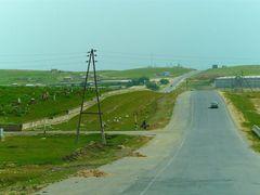 Route A 378 de Chakhbrisak a Samarcande by <b>JLMEVEL</b> ( a Panoramio image )