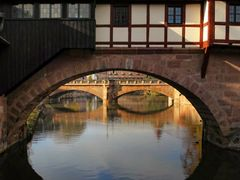 #31 Henkersteg, dahinter Maxbrucke, Nurnberg, Germany by <b>picsonthemove</b> ( a Panoramio image )