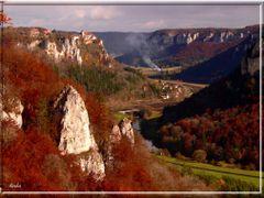 Naturpark   Obere Donau,  Blick zur Burg Werenwag by <b>herba</b> ( a Panoramio image )