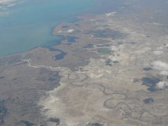 Balkhash Lake from the plane by <b>DXT 1</b> ( a Panoramio image )