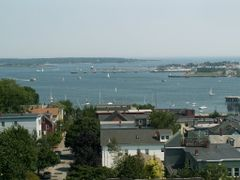 Portland Harbor from the Portland Observatory by <b>Dana Jensen</b> ( a Panoramio image )