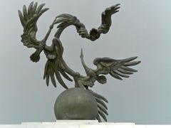 """Tachkent : place de l""""Independance, le globe et l""""envol de l""""ois by <b>JLMEVEL</b> ( a Panoramio image )"""
