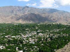 Panorama of Vorukh. Tajikistan. by <b>Parviz.Tj</b> ( a Panoramio image )