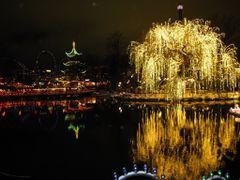 """China"" - Nightlights in Tivoli, Copenhagen, Denmark by <b>Jan Sognnes</b> ( a Panoramio image )"