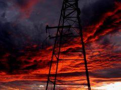 """""""CORTO CIRCUITO EN EL CIELO"""".... """"ELECTRIC SHOCK IN THE SKY"""" by <b>CARMEN ALCALDE</b> ( a Panoramio image )"""