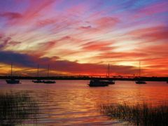 Ashley River Sunset by <b>livingworld</b> ( a Panoramio image )
