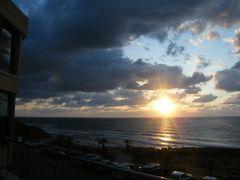 Sunset in the Mediterranean- Natanya Beach by <b>jo.yosi</b> ( a Panoramio image )