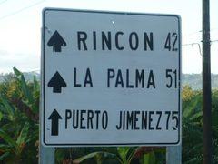 Rotulo en Chacarita (cruce hacia Puerto Jimenez) by <b>erojascabezas</b> ( a Panoramio image )