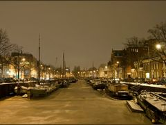Groningen: Noorderhaven by (winter)night by <b>Bert Kaufmann</b> ( a Panoramio image )