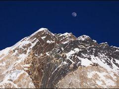 Nuptse (7864 m) and Moon by <b>OxyPhoto.ru - O x y</b> ( a Panoramio image )