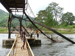 Broken bridge after the flood - River Namorana by <b>Joseph-Cro</b> ( a Panoramio image )