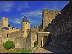 Carcassonne - View from outside the castle wall by <b>Angelofruhr</b> ( a Panoramio image )