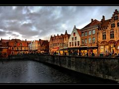 Winter evening in Brugge. Belgium by <b>Edward Galagan</b> ( a Panoramio image )