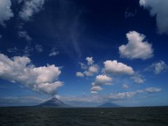 Panoramic of Isla Ometepe on Lake Nica by <b>JohnMacdonald</b> ( a Panoramio image )
