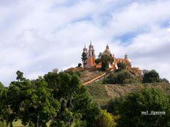 Iglesia de Nuestra Senora de los Remedios  Cholula Puebla By Mel by <b>Mel Figueroa</b> ( a Panoramio image )