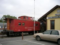 Reading RR Temple Station by <b>Chris Sanfino</b> ( a Panoramio image )