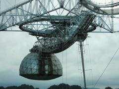 Receiving antenna for the Arecibo Radio Telescope by <b>geocheb</b> ( a Panoramio image )