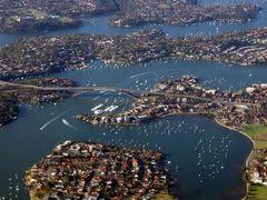 Gladesville Bridge spans Parramatta River, Sydney NSW by <b>Ian Stehbens</b> ( a Panoramio image )