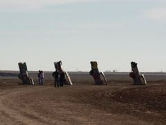 Car Henge, I-40, Amarillo, TX. by <b>DFW_Rider_01</b> ( a Panoramio image )