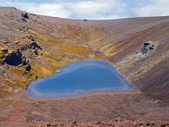 Crater Lake on volcano by <b>Blue Dude</b> ( a Panoramio image )