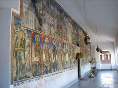 Sv. Jovan Bigorski freski na zewnatrz cerkwi by <b>mbosek</b> ( a Panoramio image )