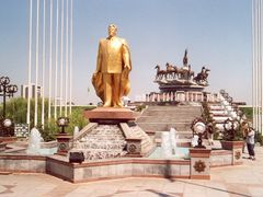 Statue from old President  Naizov Turkmenistan by <b>John de Crom</b> ( a Panoramio image )
