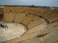 Caesarea - theatre, Кесария - античный театр by <b>hranom</b> ( a Panoramio image )