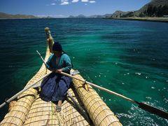bolivia titicaca boat by <b>illusandpics.com</b> ( a Panoramio image )