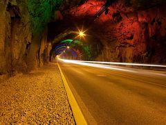 Tunnel pa Faer?erne med lysshow by <b>Peder Palsh?j Pedersen</b> ( a Panoramio image )