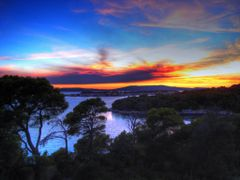 sunset over Krapanj - are you remember the last summer? by <b>d?evad had?ihasanovi?</b> ( a Panoramio image )