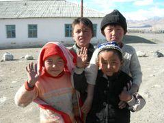Kyrgyz kids at Karakul, Tajikistan by <b>christiancourt</b> ( a Panoramio image )